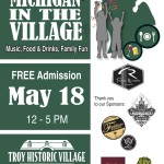 Celebrate MI In The Village Sunday May 18, noon-5:00pm